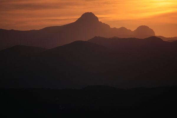 I monti Sicani nell'ovest