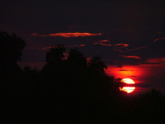 un grandioso tramonto